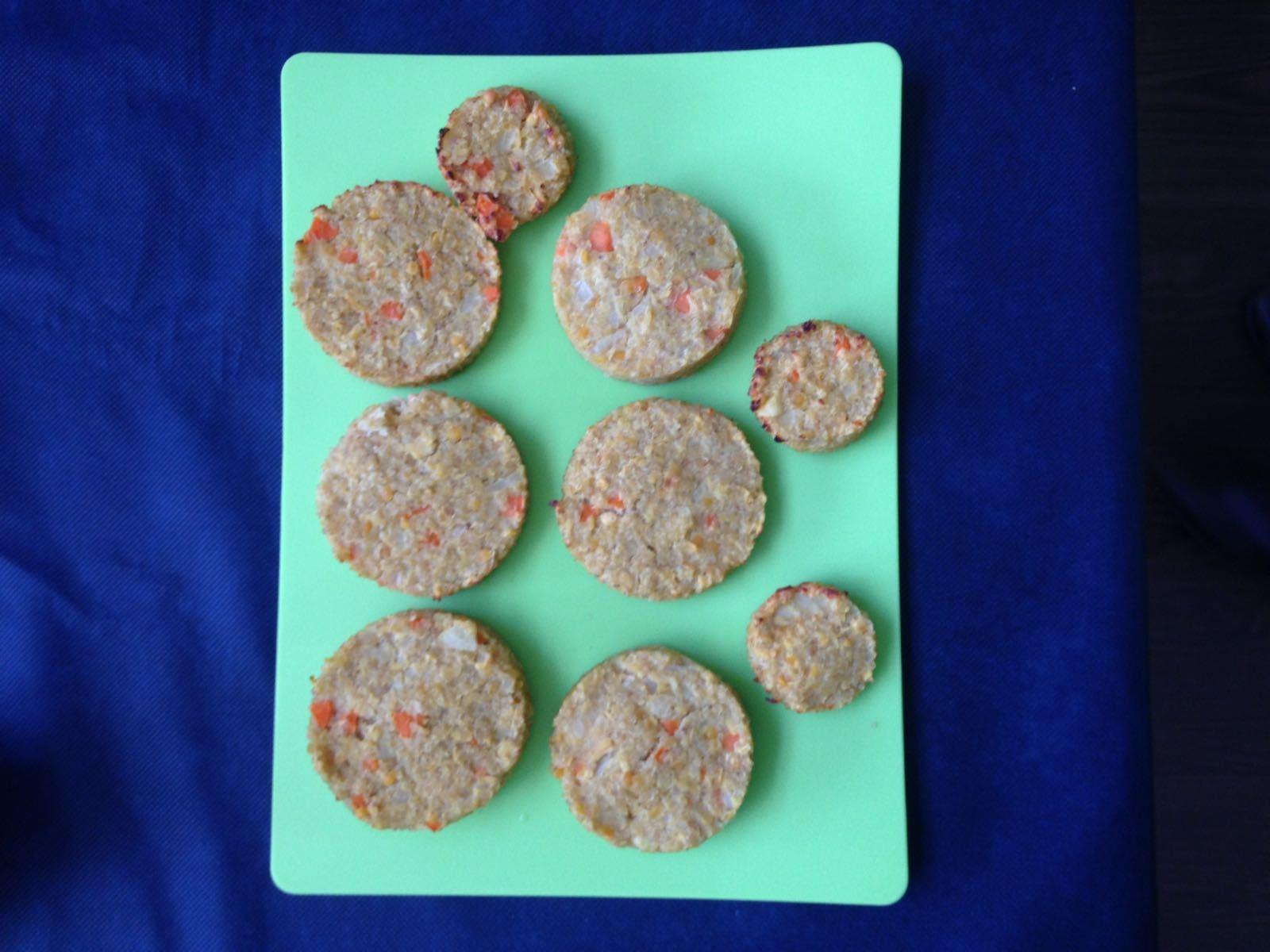 Hamburguesas vegetales con quinoa y lenteja roja
