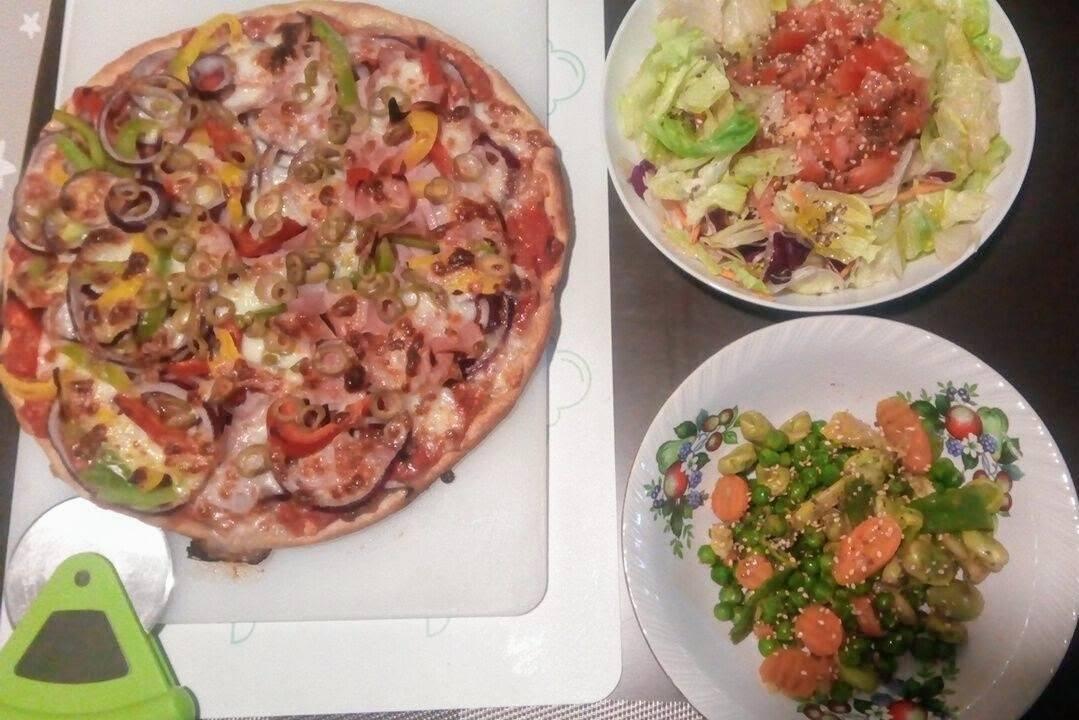 receta rápida de pizza casera