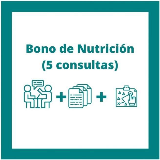 bono de 5 consultas de nutrición nutandcook