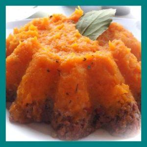 Pastel de carne con puré de calabaza ID